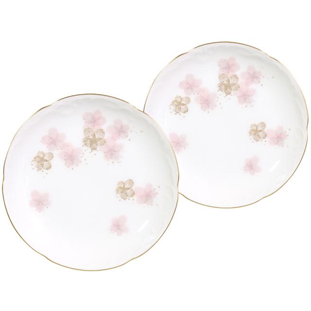 初御代桜 ペア銘々皿